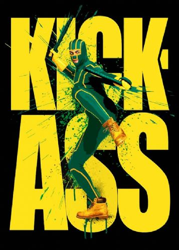 KICK ASS - movie poster cut out style art canvas print - self adhesive poster - photo print